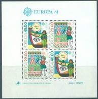 PORTUGAL - 1981 - MNH/*** LUXE - EUROPA PECHEUR DANSEUR BATEAU - Mi BLOCK 32 Yv BLOC 33 - Lot 19389 - Blocs-feuillets