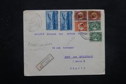 ROUMANIE - Enveloppe En Recommandé De Bucarest Pour La Société Des Avions Caudron En 1934 , Affr. Plaisant - L 27836 - 1918-1948 Ferdinand, Charles II & Michael