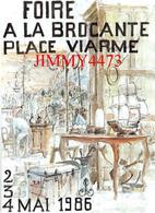 CPM - FOIRE A LA BROCANTE PLACE VIARME 1986 - NANTES 44 Loire Atl. - Carte Numérotée 56 / 500 - Illust. SONNET - Nantes