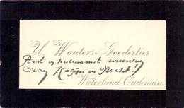 Visitekaartje - Carte Visite - U. Wauters - Goedertier - Waterland Oudeman - Cartes De Visite
