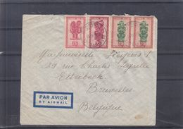 Congo Belge - Lettre De 1948 ° - Oblit Lisala - Exp Vers Bruxelles - Cachet De Libenge - 1947-60: Lettres