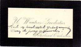 Visitekaartje - Carte Visite - U. Wauters - Goedertier - Waterland Oudeman - Cartoncini Da Visita