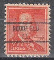 USA Precancel Vorausentwertung Preo, Locals Illinois, Goodfield 734 - Vereinigte Staaten