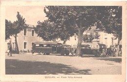 FR11 QUILLAN - Narbo - Place élix Armand - Bus Départementaux - Animée - Belle - France
