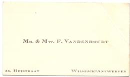 Visitekaartje - Carte Visite - Mr & Mw. F. Vandenhoudt - Wilrijk Antwerpen - Cartes De Visite
