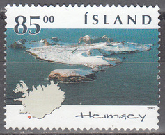 ICELAND     SCOTT NO. 1001       USED        YEAR  2003 - 1944-... Republique