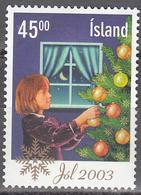ICELAND     SCOTT NO. 1003       USED        YEAR  2003 - 1944-... Republique