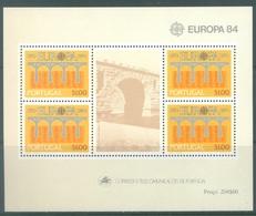 PORTUGAL - 1984 - MNH/*** LUXE - EUROPA   -  Mi BLOCK 43 Yv BLOC 44 - Lot 19391 - Blocs-feuillets