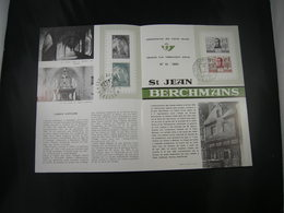 "BELG.1965 1334 & 1335 FDC Folder Fr.  : "" Affligem & St.J.Berchmans "" - FDC"