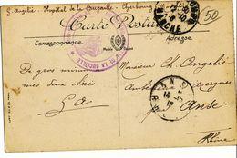 MANCHE CP 1916 CHERBOURG HOPITAL DE LA BUCAILLE ( RUE DE LA BUCAILLE ) - Postmark Collection (Covers)
