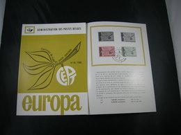 """BELG.1965 1342-1343 FDC Folder Fr.  : """" Europa """" - FDC"""
