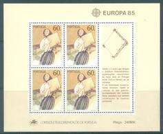 PORTUGAL - 1985 - MNH/*** LUXE - EUROPA   -  Mi BLOCK 47 Yv BLOC 48  - Lot 19392 - Blocs-feuillets