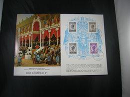 """BELG.1965 1349-1350 FDC Folder Fr.  : """" Leopold I """" - FDC"""