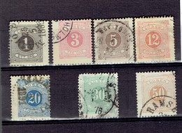 P 204 - Suède-Sweden - Taxe 1874 - 1a-2a-3a-5b-6a-8a-9a Cancelled - Port Dû (Taxe)