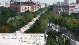 SPAIN - Barcelona Piaza De Urguindona - 1906 Undivided Rear - From Ship Duplex - Barcelona