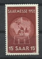 SARRE YVERT   304  MNH  ** - 1947-56 Ocupación Aliada