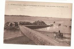 CPA ,D.22, N°11 , Paimpol ( C. Du N. ) ,Digue De L' Embarcadère De L'Arcouest-Dans Le Lointain, L' Ile De...   Ed. A.B. - Paimpol