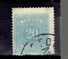 P 204 - Suède - Sweden - Taxe 1874 - 6b  Cancelled - Port Dû (Taxe)