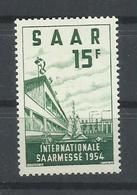 SARRE YVERT   327  MNH  ** - 1947-56 Ocupación Aliada