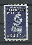 SARRE YVERT   319  MNH  ** - 1947-56 Ocupación Aliada
