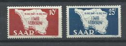 SARRE YVERT   248/49   MNH  ** - 1947-56 Ocupación Aliada
