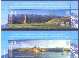 2018. Kyrgyzstan, UNESCO/World Heritages, Joint Issue With Malta, 2v, Mint/** - Kirgisistan