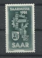 SARRE YVERT   293    MNH  ** - 1947-56 Ocupación Aliada