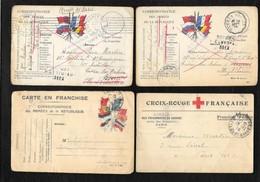 LOT DE 7 CARTES POSTALES MIMLITAIRES - War 1914-18