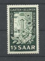 SARRE YVERT   294    MNH  ** - 1947-56 Ocupación Aliada