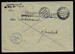 A6071) Böhmen & Mähren Dienstpostbrief Mährisch Ostrau 01.04.43 N. Friedeck - Böhmen Und Mähren