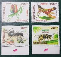 SENEGAL 2007 2010 INSECTS INSECTES ANT ANTS FOURMI FOURMIS GUEPE MANTE RELIGIEUSE MANTIS - RARE -  MNH ** - Abeilles