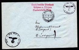 A6072) Böhmen & Mähren Dienstpostbrief Mährisch Ostrau 15.07.40 N. Stuttgart - Böhmen Und Mähren