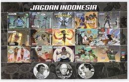 INDONESIA 2019-4 INDONESIAN COMIC HEROES CARTOON FS FULLSHEET STAMPS MNH - Indonesia