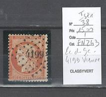 France  Obliteration  Petit Chiffre Du  Gros Chiffre  - 4199 Vienne   En Isère - Marcophilie (Timbres Détachés)