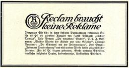 Original-Werbung/ Anzeige 1926 - RECLAM - VERSCHIEDENE AUSGABEN - Ca. 135 X 65 Mm - Publicités