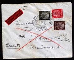 A6073) Böhmen & Mähren Dienstpostbrief Prag 24.05.40 N. Düsseldorf Rohrpost - Böhmen Und Mähren