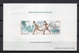 - MONACO Bloc Spécial N° 16a Neuf ** NON DENTELÉ - Jeux Olympiques BARCELONE 1992 - - Blocs