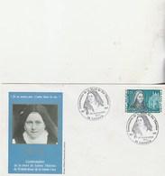 Centenaire De La Mort De  Sainte  Therese 1877.1977 - Postmark Collection (Covers)