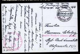 A6075) Böhmen & Mähren Karte Dienstpost Prag 23.04.40 Nachrichten-Ersatz-Batterie 5 - Böhmen Und Mähren