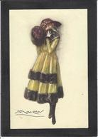 CPA MAUZAN Art Déco Illustrateur Italien Italie Italia écrite Femme Girl Woman 80-6 - Mauzan, L.A.