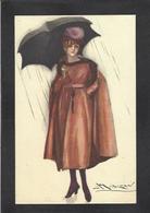 CPA MAUZAN Art Déco Illustrateur Italien Italie Italia écrite Femme Girl Woman 80-5 - Mauzan, L.A.