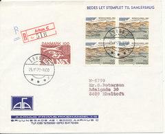 Denmark Registered Cover Aarhus 25-10-1979 Good Stamped And Cancelled - Denmark