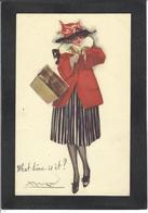 CPA MAUZAN Art Déco Illustrateur Italien Italie Italia écrite Femme Girl Woman 80-2 - Mauzan, L.A.