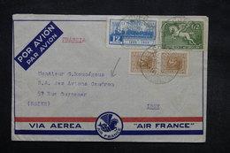 URUGUAY - Enveloppe De Piedras Par Avion Pour La Société Caudron En 1939 , Affranchissement Plaisant - L 27862 - Uruguay