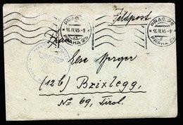 A6077) Böhmen & Mähren Feldpostbrief SS-Funker Prag 16.04.45 Lager Stift Zwettel Mit Briefinhalt - Böhmen Und Mähren