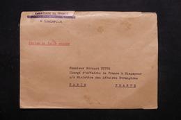 SINGAPOUR - Enveloppe De L 'Ambassade France à Singapour Pour Paris ( Valise Diplomatique) - L 27869 - Singapore (...-1959)