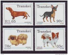 D101225 Transkei 1993 South Africa DOGS Dachshund Chihuahua Pekinese Papillon MNH Set  - Afrique Du Sud Afrika RSA Sudaf - Transkei