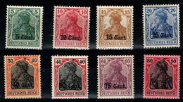 Lot 8TP Occupation Allemande 1914-18 Neuf * Maury N° 2 + N° 4 à 10 - Guerres