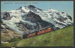 Suisse (BE) - Wengernalp - Elektrische Bahn Und Jungfrau - Phot. R. Gabier Interlaken N° 1208 - See 2 Scans - Trains