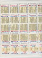 Faciale 7.60 Eur ; Feuille De 20 Tbs à 2.50 Fr N° B2605A (cote 25 Euros) - Feuilles Complètes
